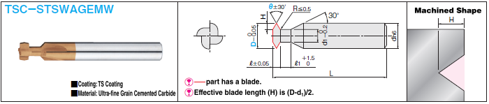 TS Coated Carbide T-Slot Cutter 4-flute / Double Angular: Related Image