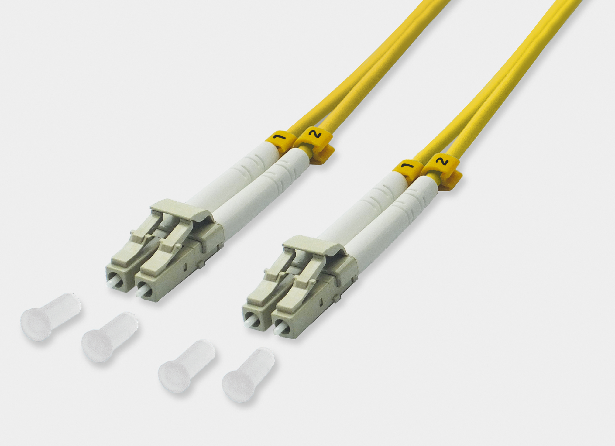 Fiber Optic Duplex Patch Cable LC / LC 9/125µ OS2 - yellow