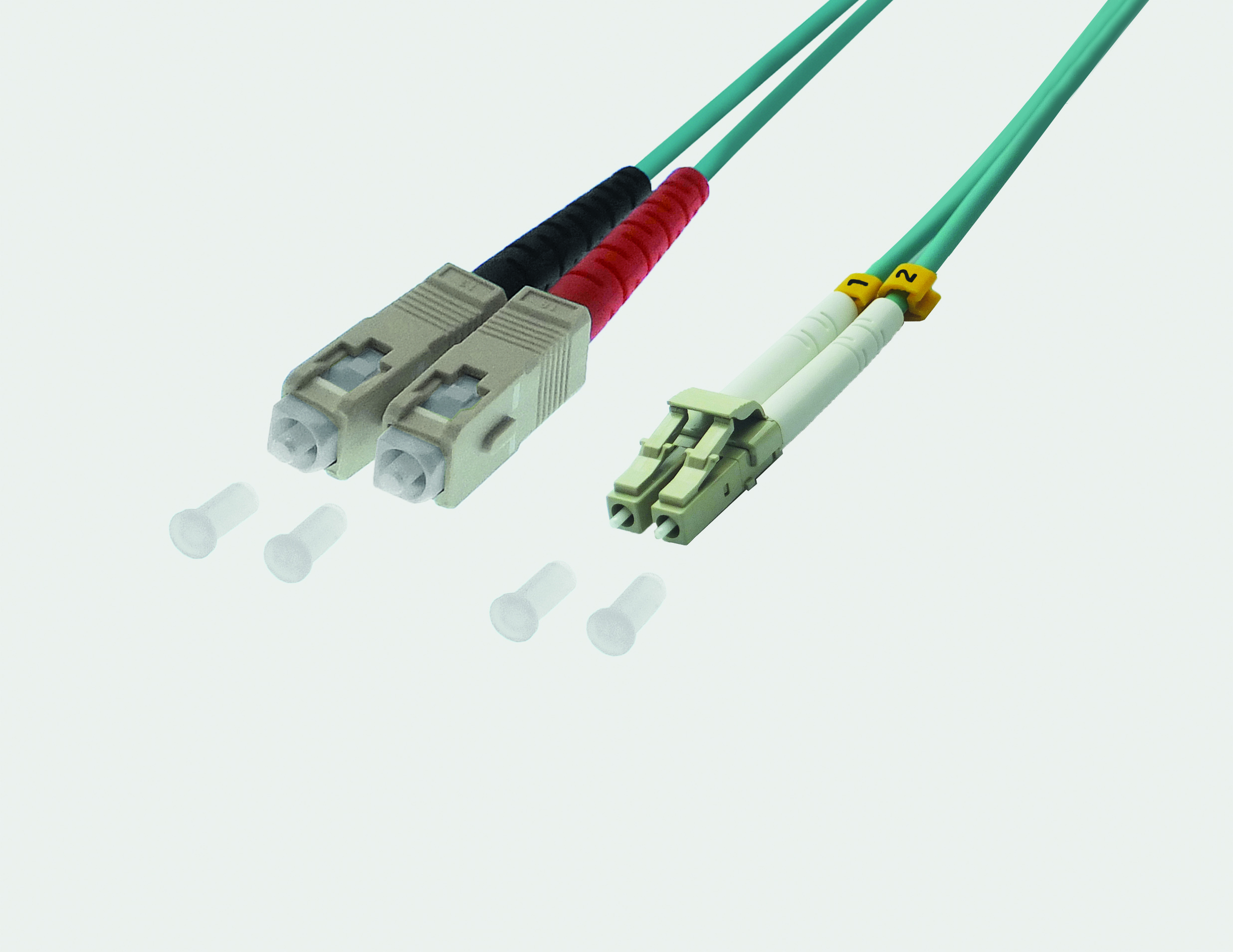 Fiber Optic Duplex Patch Cable LC / SC 50/125µ OM4 - violet