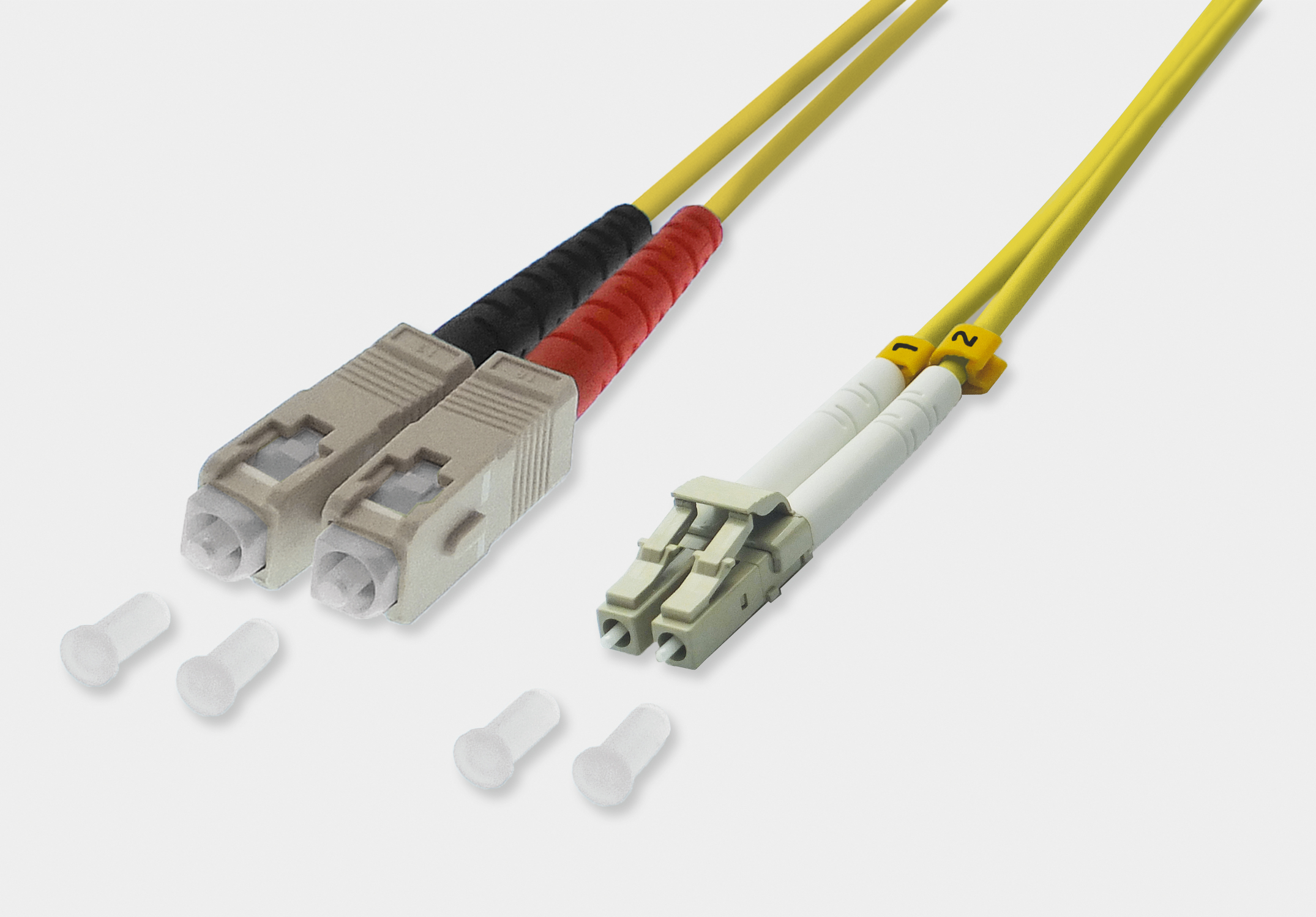 Fiber Optic Duplex Patch Cable LC / SC 9/125µ OS2 - yellow