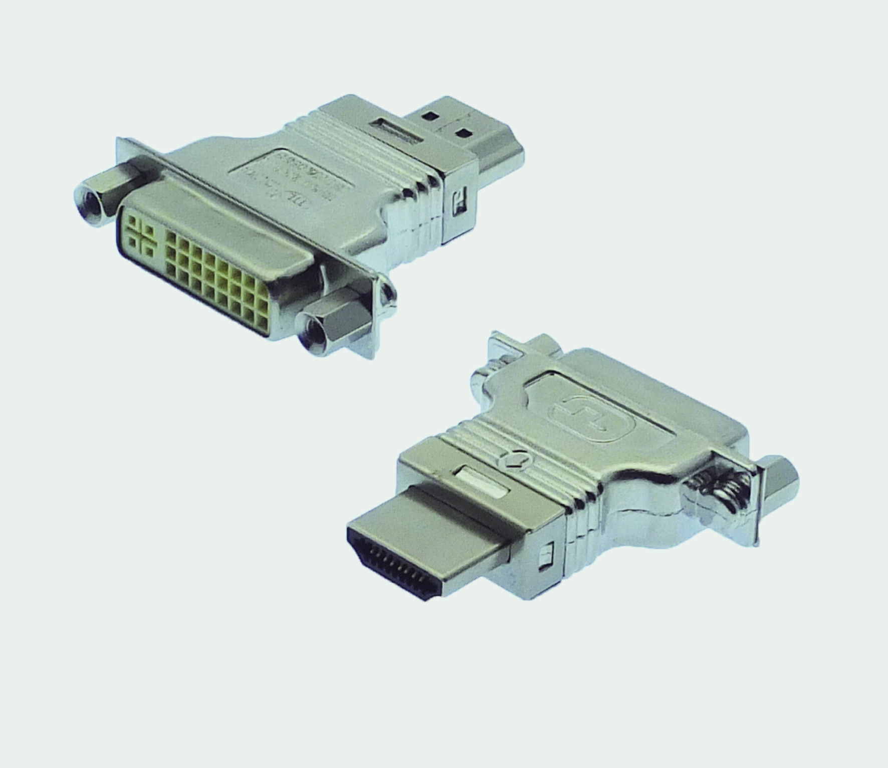 "HDMI A Plug / DVI-D Socket central-placed""RF-BLOK"""