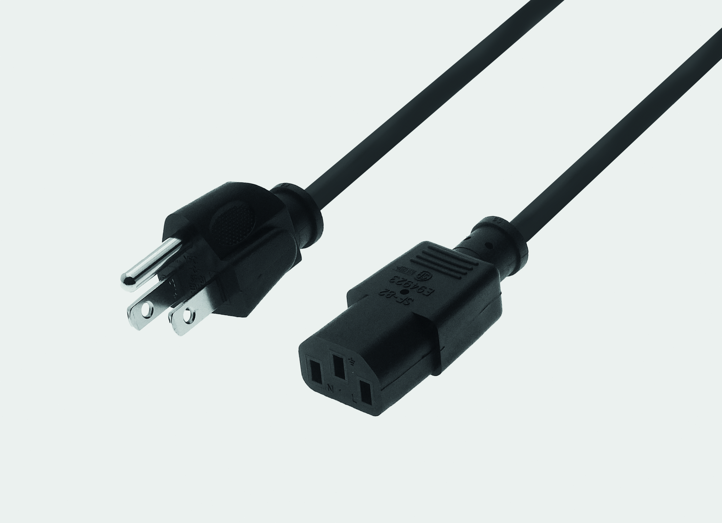 Power Cable USA Power Plug 180° / C13 180° - black