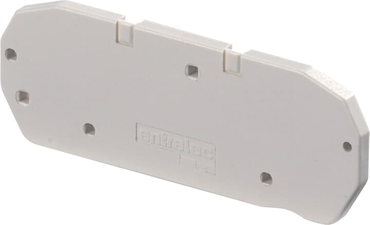End plate for terminal blocks with spring-cage connection