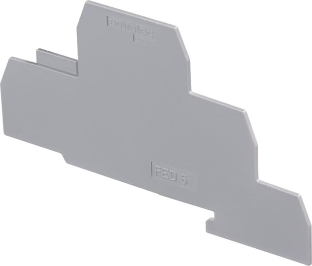 End plate for terminals with screw connection