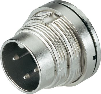 M16 IP67 male panel mount connector