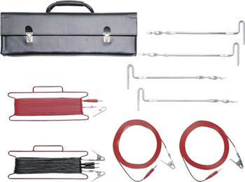Measuring accessories set for earthing measurements