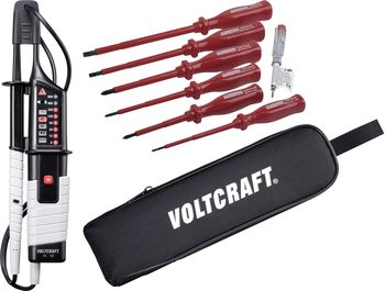 VC 63 Two-pole voltage tester + VDE screwdriver set + bag