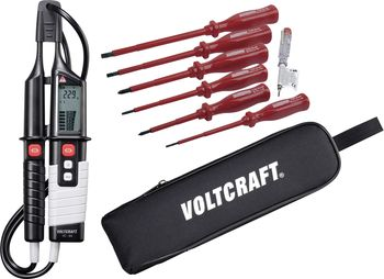 VC 64 Two-pole voltage tester + VDE screwdriver set + bag