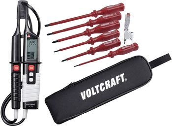 VC 65 Two-pole voltage tester + VDE screwdriver set + bag