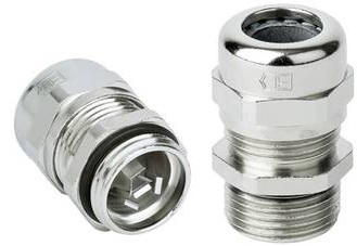Cable gland EMC, with strain relief