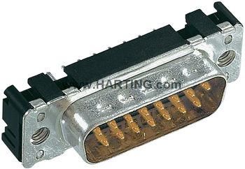 D-SUB built-in pin strip 180 °