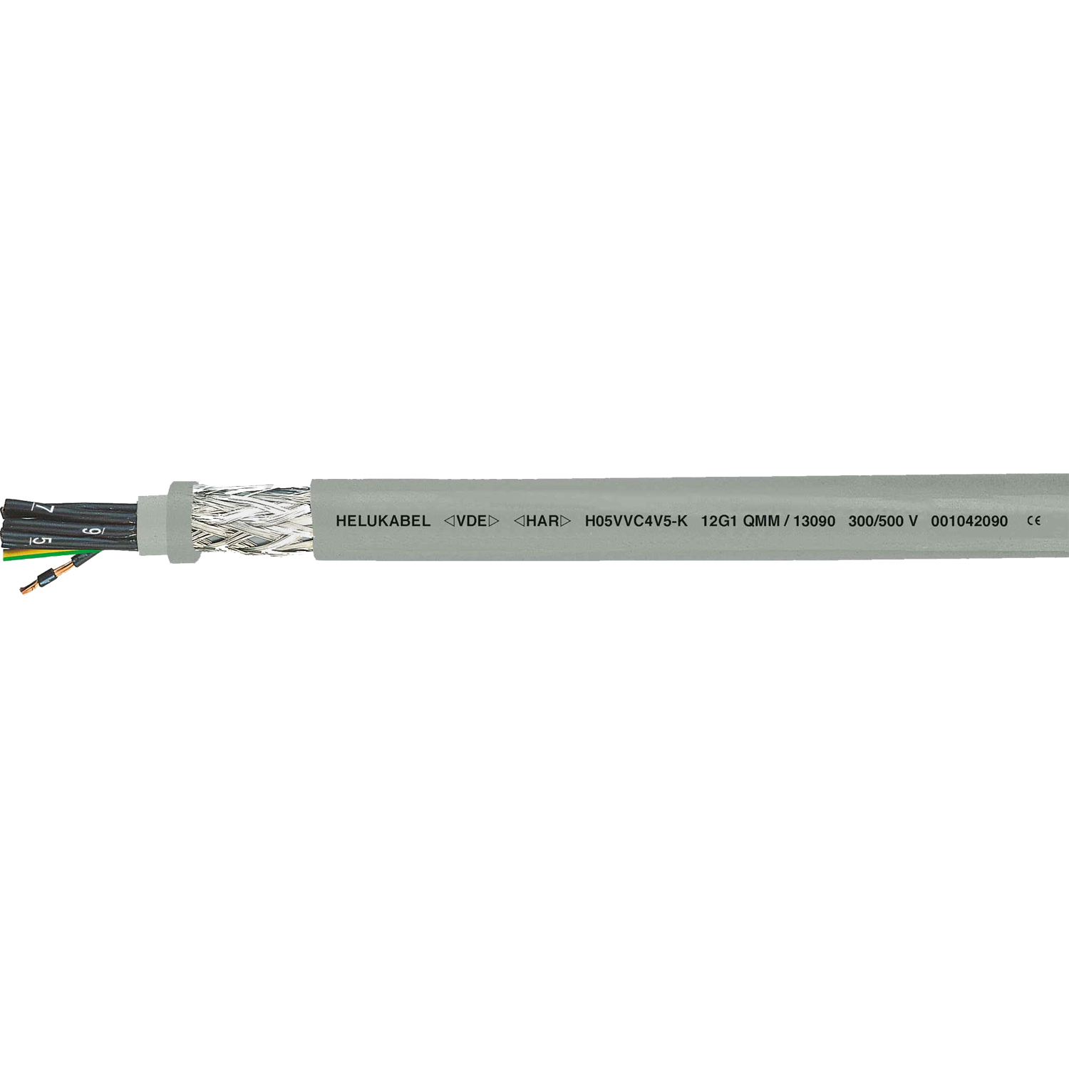 Control Cable PVC screened H05VVC4V5 K