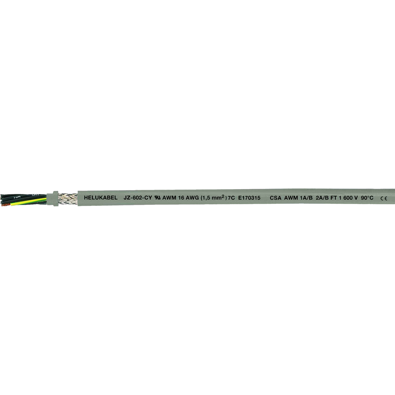 Control Cable PVC screened UL CSA JZ 602 CY
