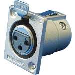 XLR Series Receptacle (Small Square Flange)