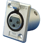 XLR Series Receptacle (Square Flange)