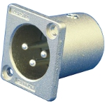 XLR Series Receptacle (Square Mini Flange)