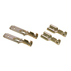 Panel connectors with latch