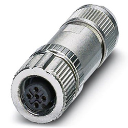 Bus connector SACC, Socket straight M12, A-coded