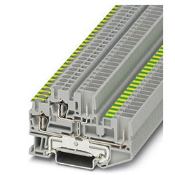 Protective conductor double-level terminal block STTB 2,5/2P-PE/L