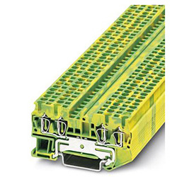 Ground modular terminal block ST 2,5-QUATTRO-PE