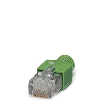 RJ45 connector, shielded, with bend protection sleeve