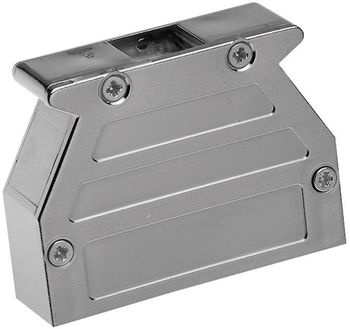 D-SUB housing, Plastic, metallised with slide lock