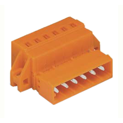 Spring Type Connector, 231 Series, 5.08 mm Pitch, Male with Screw Fixation Flange