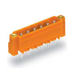 Male Header with A Solder Pin for The Spring Type Connector, 231 Series with Fixing Screw