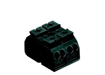 4-conductor chassis-mount terminal strip 862, 2-pole, for mounting via M3 screw and nut or self-tapping screw