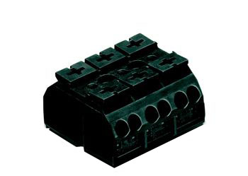 4-conductor chassis-mount terminal strip 862, 3-pole, for mounting via M3 screw and nut or self-tapping screw