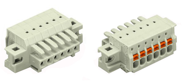 1-conductor female plug, clamping collar 2734