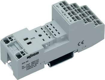 Plug base for industrial relay 858