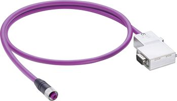 Sensor/Actuator Data Cable (pre-fab) M12 Plug, straight, Plug, right angle