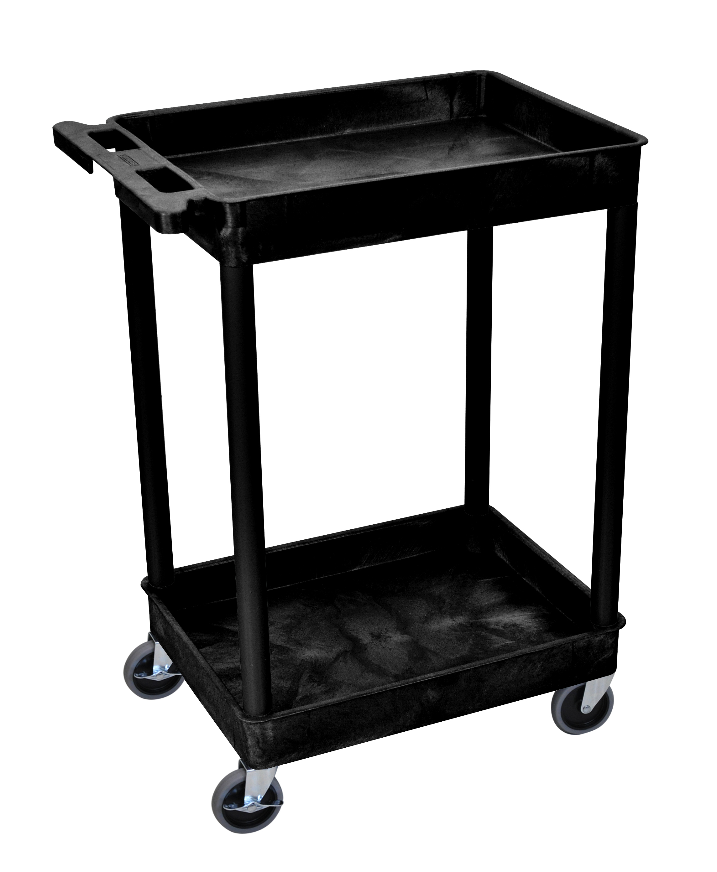 Plastic Utility Cart with 2 tub shelves