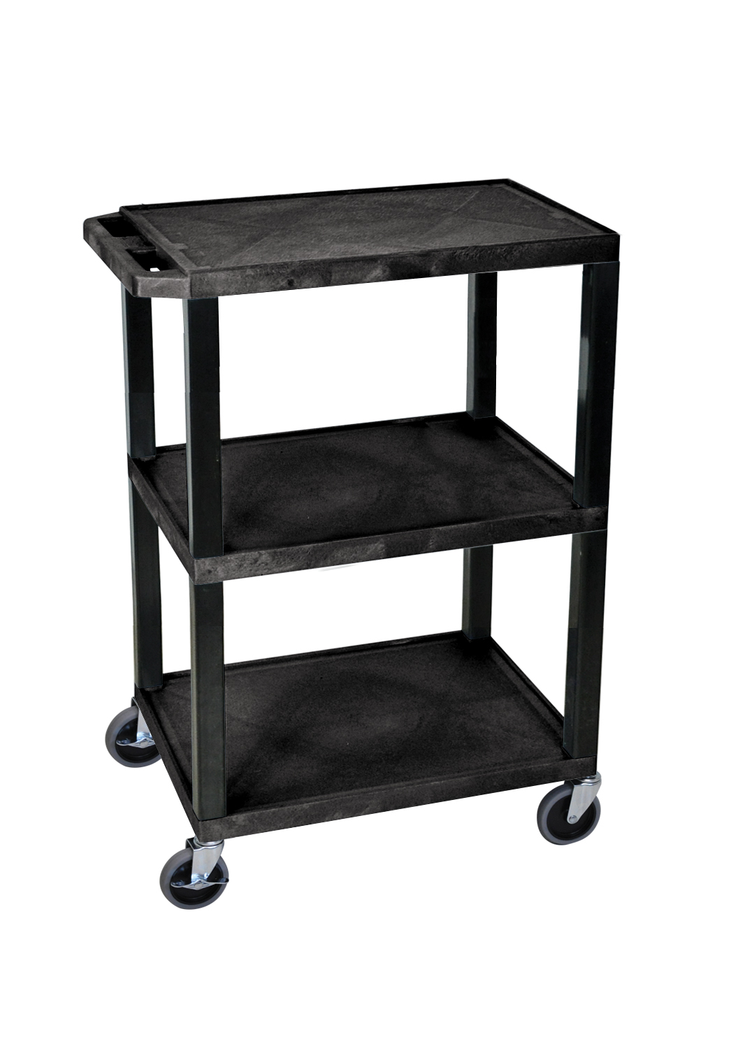 Plastic Utility Cart with 3 flat shelves