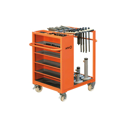 6470 Trolley for clamping equipment with basic set of clamping equipment