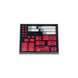 6535 Set of assorted plastic clamping elements