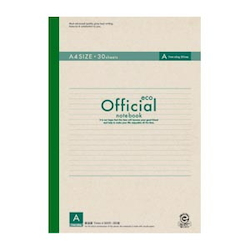 Official Eco Non-Wire Bound Notebook Semi A4 7 mm Ruled