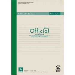 Official Eco Notebook A5 A Rule 30 Sheets