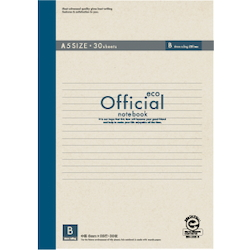 Official Eco Notebook A5 B Rule 30 Sheets