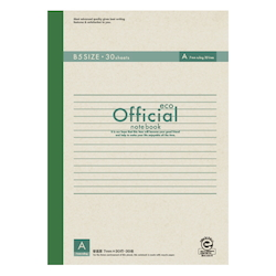 Official Eco Notebook B5 A Rule 30 Sheets