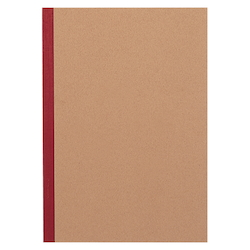 Plain Cover Sheet, Notebook, Red