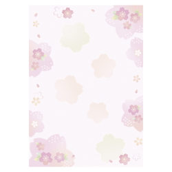 Japanese-Pattern Japanese Paper - Colorful Cherry Blossom