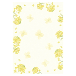 Japanese-Pattern Japanese Paper - Rapeseed Blossom