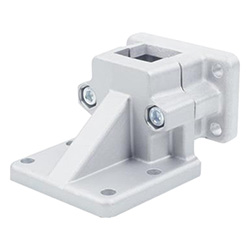 Flanged base plate connector clamps, Aluminium