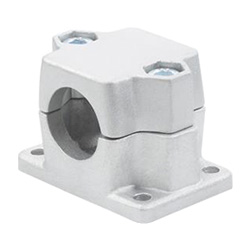Flanged connector clamps, Aluminium