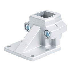 Off-set base plate connector clamps, Aluminium