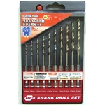 Hexagonal Shank Cobalt HSS Steel Drill Blade Set (10-Piece Set)