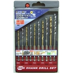 Hex Axis Combination Drill Bit Set (10 Pieces Set)