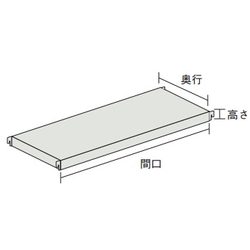 Additional Shelves for NT C-Type Medium Boltless Shelving Good Shelf (with Shelf Brackets)